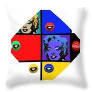 Marilyn De Stijl Throw Pillow