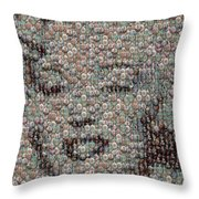 Marilyn Monroe Bubble Glass Mosaic Throw Pillow
