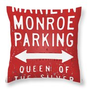 Marilyn Monroe Parking Throw Pillow