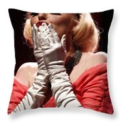 Marilyn's Kiss Throw Pillow by Elizabeth Hart