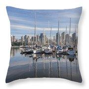Marina At False Creek Throw Pillow