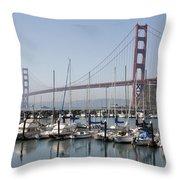 Marina At Golden Gate Throw Pillow