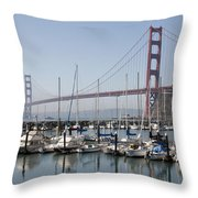 Marina At Golden Gate Throw Pillow
