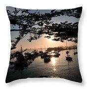 Marina At Sunrise Throw Pillow