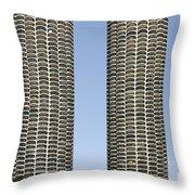 Marina City Chicago - Life In A Corn Cob Throw Pillow
