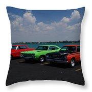 Marine City Car Show Throw Pillow