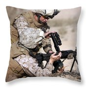 Marine Gives Instructions On How Throw Pillow