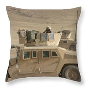 Marine Looks For Suspicious Activity Throw Pillow