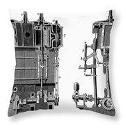 Marine Steam Engine, 1878 Throw Pillow