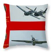 Marine Wildcat And Avenger Throw Pillow