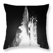 Mariner 1: Launch, 1962 Throw Pillow