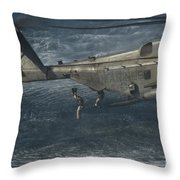 Marines Conduct Insertion Exercises Throw Pillow