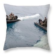 Marines Depart The Well Deck Throw Pillow