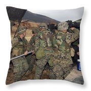 Marines Load A 98-pound High Explosive Throw Pillow