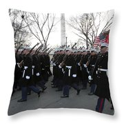 Marines Participate In The 2009 Throw Pillow