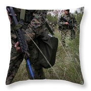 Marines Patrol The Central Training Throw Pillow