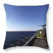 Marines Provide Defense Security Throw Pillow