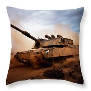 Marines Roll Down A Dirt Road Throw Pillow by Stocktrek Images