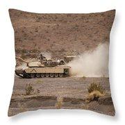 Marines Roll Through The Combat Center Throw Pillow