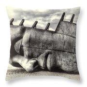 Maritime Memorial Cardiff Bay Opal Throw Pillow