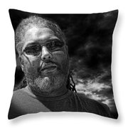 Mark In Monochrome Throw Pillow