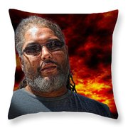 Mark In Red Throw Pillow