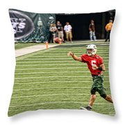 Mark Sanchez Ny Jets Quarterback Throw Pillow