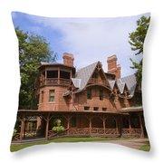 Mark Twain Home Throw Pillow
