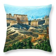 Markagunt Plateau In Zion National Throw Pillow