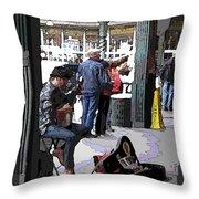 Market Busker 2 Throw Pillow