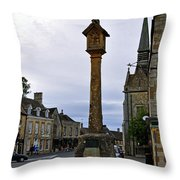 Market Cross - Stow-on-the-wold Throw Pillow