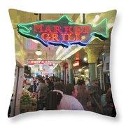 Market Grill 3 Throw Pillow