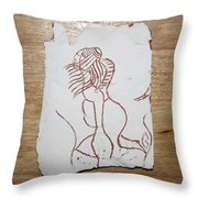 Market Seller 5 Throw Pillow