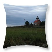 Marking The Mouth Of The River Throw Pillow