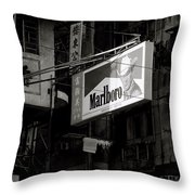 Marlboro In Hong Kong Throw Pillow