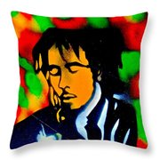 Marley Rasta Guitar Throw Pillow