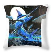 Marlin Moon Mens Shirt Throw Pillow