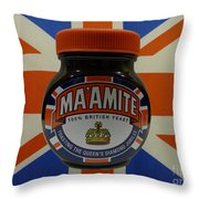Marmite The Growing Up Spread Throw Pillow