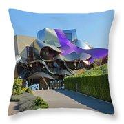 Marques De Riscal Winery Spain Throw Pillow