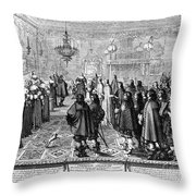Marriage Contract, 1645 Throw Pillow