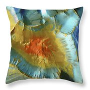 Mars Aerial View Throw Pillow