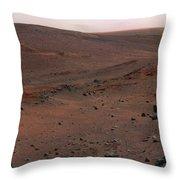 Mars Exploration Rover Spirit Throw Pillow by Stocktrek Images