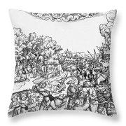 Mars, Roman God Of War Throw Pillow