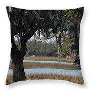 Marsh Oak Throw Pillow