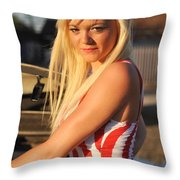Marsha10 Throw Pillow