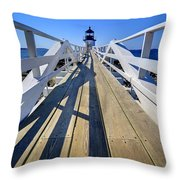 Marshal Point Lighthouse Walkway Throw Pillow