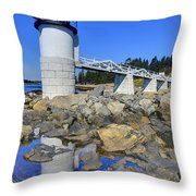Marshall Point Light Reflection Throw Pillow