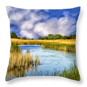 Marshlands On Isle Of Palms Throw Pillow