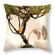 Marshmallow Bunny Throw Pillow
