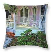 Marthas Vineyard Cottage Throw Pillow